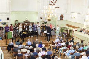 Afsluitende kerkdienst Remonstrantse Kerk en het 25 jarig jubileum van organist Gerrie Meijers